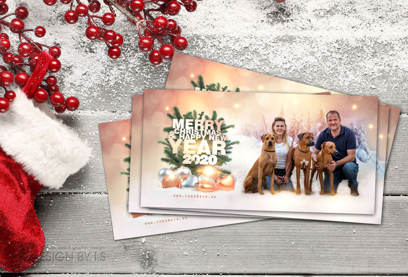 Graphic design for breeders. Christmas card design